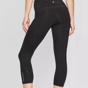 Champion Reflective Running Capri Leggings Tights